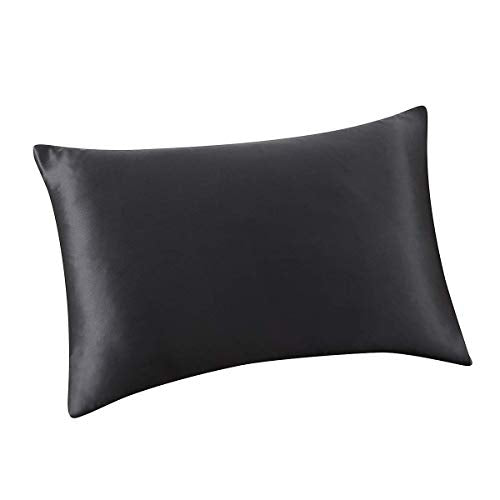 ALASKA BEAR Natural Silk Pillowcase Hypoallergenic 19 Momme 600 Thread Count 100 Percent Mulberry Silk King Size with Hidden Zipper 1 Smoke Grey iJo-B07P9NCF5Y