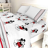 Jay Franco Disney Mickey Mouse 90th Stripe Queen Sheet Set 4 Piece Set Super Soft and Cozy Kids Bedding Fade Resistant Microfiber Sheets Official Disney Product TV7-B07YVMQD3K