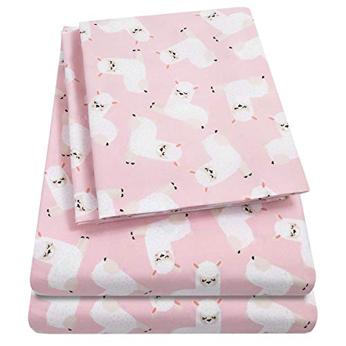 1500 Supreme Kids Bed Sheet Collection Fun Colorful and Comfortable Boys and Girls Toddler Sheet Sets Deep Pocket Wrinkle Free Hypoallergenic Soft and Cozy Bedding Twin Llamas 2rg-B07PV1D38T