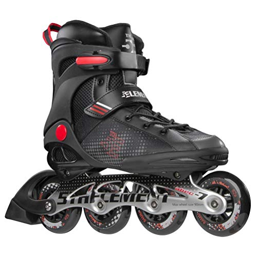 5th Element Stealth Mens Performance Fitness Inline Skates Black and Red IjE-B01JKIWNPM