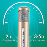 TOSING Microphone for Kids Wireless Bluetooth Karaoke Microphone Machine for Home Party Birthday Gifts and Toys for Kids Boys Girls Age 5 6 7 8 9 Gold Df7-B07WNTL7V6