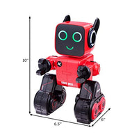 Costzon Wireless Remote Control Robot RC Robot Toy Senses Gesture Sings Dances Talks and Teaches Science Robot Smart for Kids Red
