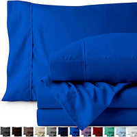 Bare Home Full Sheet Set Kids Size 1800 UltraSoft Microfiber Bed Sheets Double Brushed Breathable Bedding Hypoallergenic Wrinkle Resistant Deep Pocket Full Medium Blue eFF-B077QTZ7F8