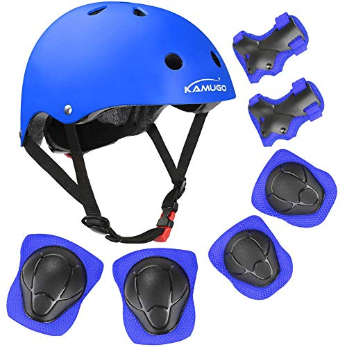 KAMUGO Kids Bike Helmet Toddler Helmet for Ages 38 Boys Girls with Sports Protective Gear Set Knee Elbow Wrist Pads for Skateboard Cycling Scooter Rollerblading CPSC Certified u1F-B01N0KODNG