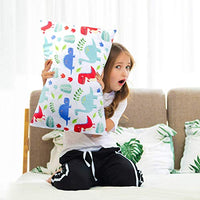 Nidoul Toddler Pillowcases 2 Pack Dinosaur Printing Pillow Cases 14x19for 13x18 12x16 Pillow Ultra Soft Velvet Bedding Pillow Case Cover for Home Travelling Ahl-B07PFVVSCB
