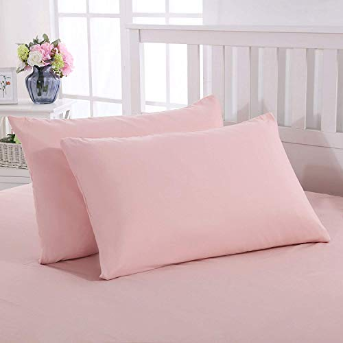 Mohap Zippered Pillowcases 4Piece Super Soft and Durable Brushed Microfiber 1800 Plush Experience Machine Washable Pink Queen Tqf-B07WYKQG2C