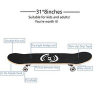 Pro Skateboard Standard Skateboards Cruiser Complete Canadian Maple 8 Layers Double Kick Concave Skate Boards OsB-B07SH4KFTV