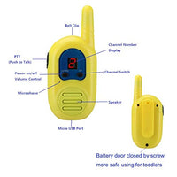 Walkie Talkies for Kids 3 Pack 2 Mile Transmission Rechargeable Kids Walkie Talkies with Lanyards 2 Way Radios for Boys Girls in Adventure Open Games wzq-B07SJZQGNH