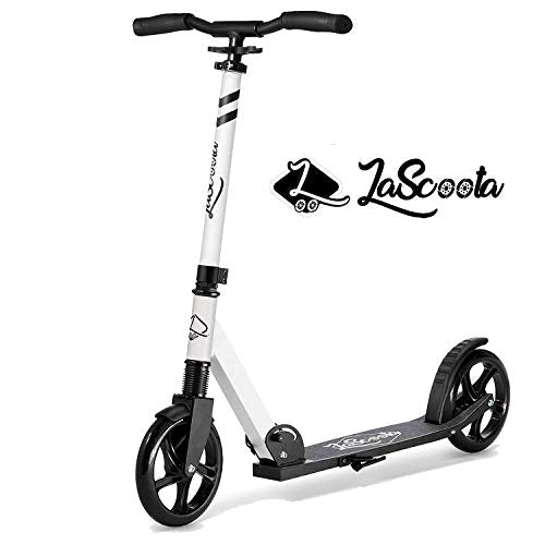 Lascoota Scooters for Kids 8 Years and up Featuring QuickRelease Folding System Dual Suspension System + Scooter Shoulder Strap 79 Big Wheels Great Scooters for Adults and Teens iyF-B07RD1V5FG