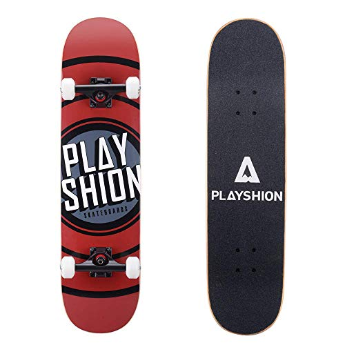 Playshion 31 Inch Trick Skateboard Complete for Kids and Adults Beginners lAT-B07WR8J69R