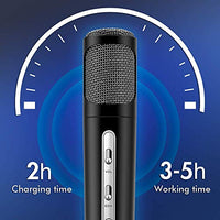 TOSING Microphone for Kids Wireless Bluetooth Karaoke Microphone Machine for Home Party Birthday Gifts and Toys for Kids Boys Girls Age 5 6 7 8 9 Black DKq-B07WRP5B1J