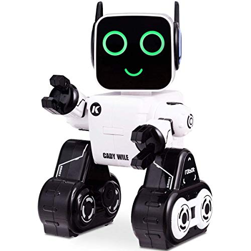 Costzon Wireless Remote Control Robot RC Robot Toy Senses Gesture Sings Dances Talks and Teaches Science Robot Smart for Kids White