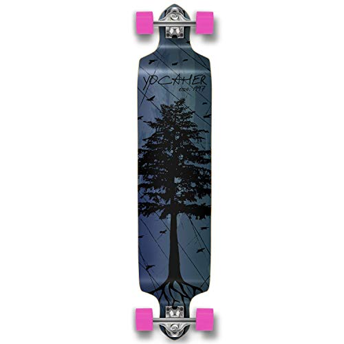 Yocaher in The Pines Blue Longboard Complete Skateboard Available in All Shapes GJ8-B01G7CG8C8