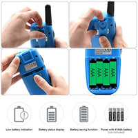 Olywiz Kids Walkie Talkies Toys for 412 Year Old BoysGirls Pair BlueEasy to Use FRS LoudClear Two Way Radio with Lanyard and Flashlight uuY-B07SPVZYHT