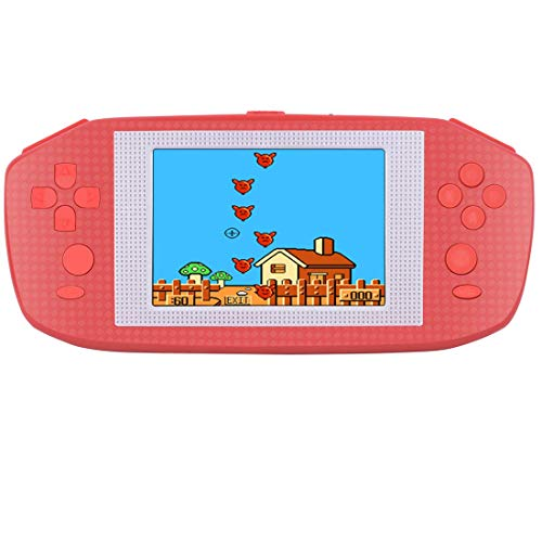 Beico Handheld Games for Kids Adults 35 Large Screen Built in 416 Classic Retro Video Games Seniors Electronic Games Consoles Birthday Present Red d5f-B07M6BVTTY