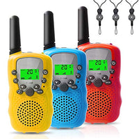 Felicigeely Walkie Talkies for KidsKids Walkie Talkies 3 PackCover 3 Miles Range with Backlit LCD Flashlight 22 Channels 2 Way Radio Toy Outdoor Adventures Camping HikingParty YellowBluered YS6-B07WFZPWML