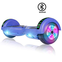 FLYINGANT Hoverboard Self Balancing Scooters 65 Flash TwoWheel Self Balancing Hoverboard with Bluetooth Speaker and LED Lights for Kids and Adults Gift AZH-B07MC8MDYS