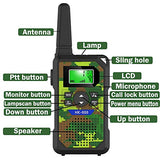 YRSHOP Walkie Talkies for Kids with 22 ChannelsTwo Way Radio Kids Walkie Talkies Toys with Flashlight Outside AdventuresLong Range Walkie Talkies for Birthday Camo Green2 Pack rqn-B07XG2NMVQ