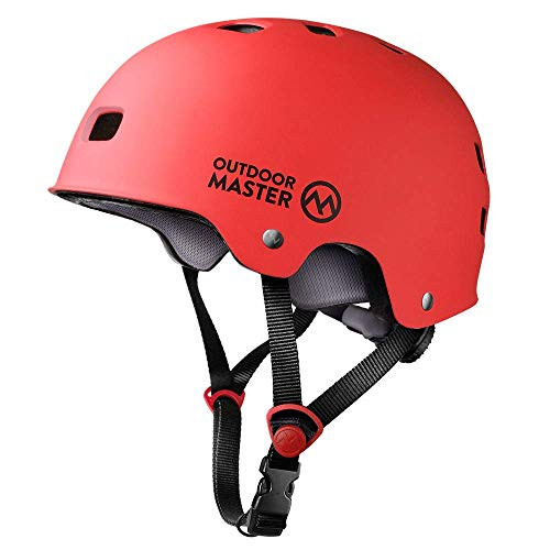 OutdoorMaster Skateboard Helmet ASTM CPSC Certified Lightweight Skate with Removable Lining 12 Vents Ventilation System for Kids Youth Adults 0hV-B07PMQP4TX