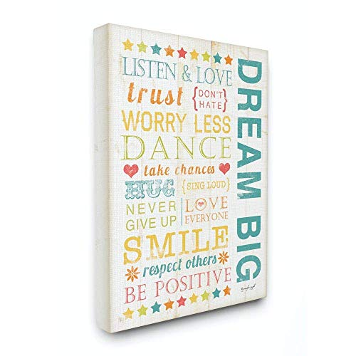 The Kids Room by Stupell Dream Big Typography Canvas Wall Art 36x48 MultiColor