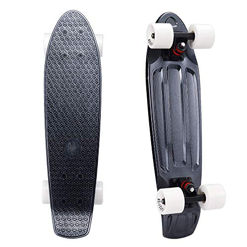 Playshion Complete 22 Inch Mini Cruiser Skateboard for Beginner with Sturdy Deck OgM-B01HR7RQBO