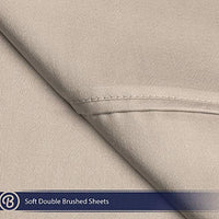 Bare Home Twin XL Sheet Set College Dorm Size Premium 1800 UltraSoft Microfiber Sheets Twin Extra Long Double Brushed Hypoallergenic Wrinkle Resistant Twin XL Sand q43-B00THMORZQ