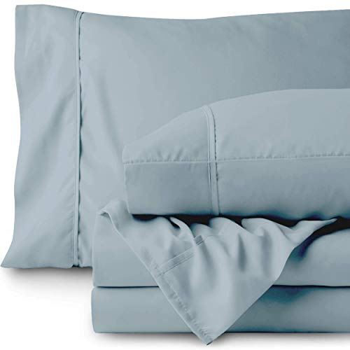 Bare Home Queen Sheet Set 1800 UltraSoft Microfiber Bed Sheets Double Brushed Breathable Bedding Hypoallergenic Wrinkle Resistant Deep Pocket Queen Dusty Blue i0v-B07WSG5LKP