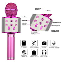 Viposoon Wireless Bluetooth Karaoke Microphone Best Gifts UCh-B07XP67P82