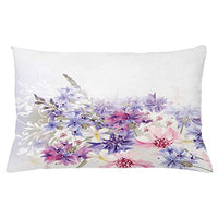 Ambesonne Lavender Throw Pillow Cushion Cover Pastel Cornflowers Bridal Classic Design Gentle Floral Wedding Design Print Decorative Rectangle Accent Pillow Case 26 X 16 Violet Pink