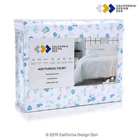 California Design Den 400ThreadCount Cotton Sheets 3 Piece Blooming Meadows Twin Bed Sheet Set 100 Pure Combed Cotton Sateen Weave Bedding Deep Pocket Fits Mattress Upto 17 Inches DE0-B07QBPPBW9
