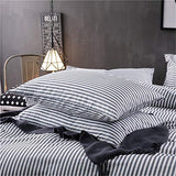 VM VOUGEMARKET Bedding Cotton Striped Pillowcases Pack of 2Standard Queen Pillow Covers with Envelope Closure End2026QueenStripe igF-B074TYW2CV