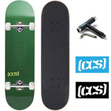 CCS Skateboard Complete Color Logo and Natural Wood Fully Assembled Includes Skateboard Tool and Stickers SGB-B079V4RSN9
