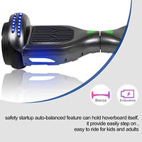 FLYINGANT Hoverboard Self Balancing Scooters 65 Flash TwoWheel Self Balancing Hoverboard with Bluetooth Speaker and LED Lights for Kids and Adults Gift jhI-B07YS5JKTD