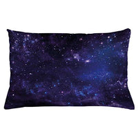 Ambesonne Galaxy Throw Pillow Cushion Cover Celestial Stars in Night Sky Stardust in Clouds Fantasy World of Space Decorative Rectangle Accent Pillow Case 26 X 16 Navy Blue