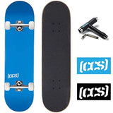 CCS Skateboard Complete Color Logo and Natural Wood Fully Assembled Includes Skateboard Tool and Stickers 83z-B01MT93D0I