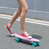 Playshion Complete 22 Inch Mini Cruiser Skateboard for Beginner with Sturdy Deck HqK-B01G1P9O54