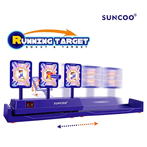 SUNCOO Running Targets Shooting Electronic Scoring Auto Reset Digital Targets for Nerf Guns Toys2019 New Version