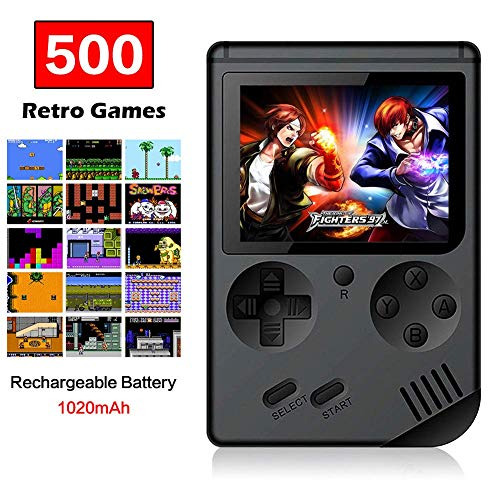 FAITHPRO Handheld Game Console with Built in 500 Games 3 Inch Screen USB Charger Supports TV Output Video Game Console for Kids and Adults 8yA-B07Y9CNL5Q