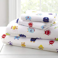 Wildkin Kids Twin Sheet Set for Boys and Girls Microfiber Bedding Set Includes Top Sheet Fitted Sheet and One Standard Pillow Case Pattern Coordinates with Our Comforters and Pillow Shams rUs-B07FGNS317