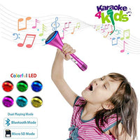Karaoke Microphone for Kids Karaoke Rechargeble Children Microphone Birthday Christmas Gifts for Girls 3 4 5 6 Year Old Bluetooth Karaoke Singing Machine for Kids Toys for Girls Age 3 4 5 6 JlA-B01M58ENK2