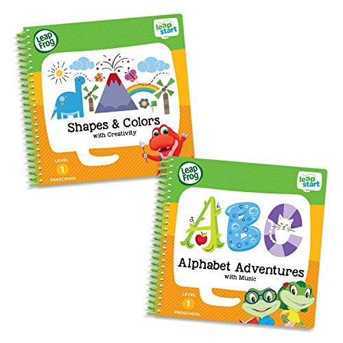 LeapFrog Leapstart Preschool Activity Book Bundle with ABC Shapes Colors Level 1 P3A-B01KZ338SM