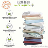 California Design Den 400 Thread Count 100 Cotton Sheet Set Mod Spa California King Sheets 4 Piece Set LongStaple Combed Pure Natural Cotton Bedsheets Soft Silky Sateen Weave xgE-B06Y5S845Q