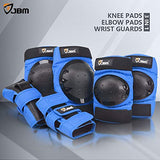 JBM AdultChild Knee Pads Elbow Pads Wrist Guards 3 in 1 Protective Gear Set for Multi Sports Skateboarding Inline Roller Skating Cycling Biking BMX Bicycle Scooter WI4-B016QHMSUA