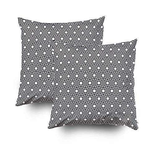 ROOLAYS Pillow Cover for Couch Square Decorative Pillow Cover 18x18InchCushion Covers Seamless Art Deco Geometric la Both Sides Printing Zipper Home Sofa Decor 2PackClear Blue PR3-B07KXN9DYM