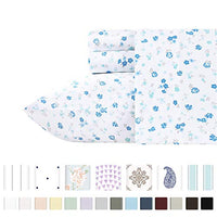 California Design Den 400ThreadCount 100 Pure Cotton Sheets 4 Piece Blooming Meadows Cal King Sheet Set Long Staple Combed Cotton Hotel Quality Bedding Deep Pocket Fits Mattress Upto 18 Inches Gql-B07QGR81J5
