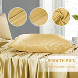 Duerer Satin Pillowcase 2 Pack for Hair and Skin Soft Pillow Cases Covers with Envelope Closure StandardQueenKing Size20x36Gold NYd-B07N6BKTNP