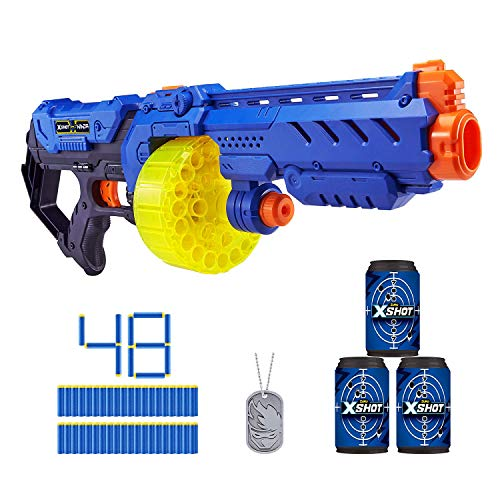XShot Ninja Turbo Strike Foam Dart Blaster 48 Darts 1 DogTag 3 Practice Cans Limited Edition by ZURU