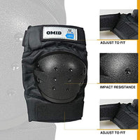 OMID Knee Pads and Elbow Pads with Wrist Guards Protective Gear Set for Adult Child Sports Protective Gear Safeguard Support Pad for Multi Sports Skateboarding Snowboarding Biking Riding