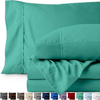 Bare Home Kids Twin Sheet Set 1800 UltraSoft Microfiber Bed Sheets Double Brushed Breathable Bedding Hypoallergenic Wrinkle Resistant Deep Pocket Twin Turquoise CDp-B01N2YGMFL