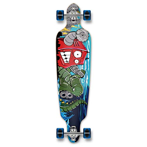 Yocaher Graphic Series Complete Drop Through Skateboards Longboard wBlack Widow Premium 80A Grip Tape Aluminum Truck ABEC7 Bearing 70mm Skateboard Wheels eqd-B00A9V4I0I